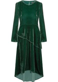 Maje Velvet midi dress