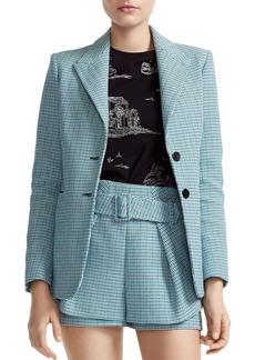 Maje Vikar Double-Button Tweed Blazer