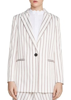 Maje Vimaly Striped Blazer