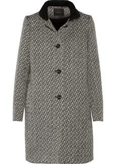 Maje Woman Bouclé Coat Black