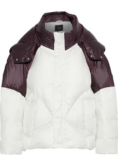 Maje Woman Brax Quilted Two-tone Shell Hooded Coat White