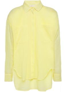 Maje Woman Cazelle Cotton Shirt Pastel Yellow