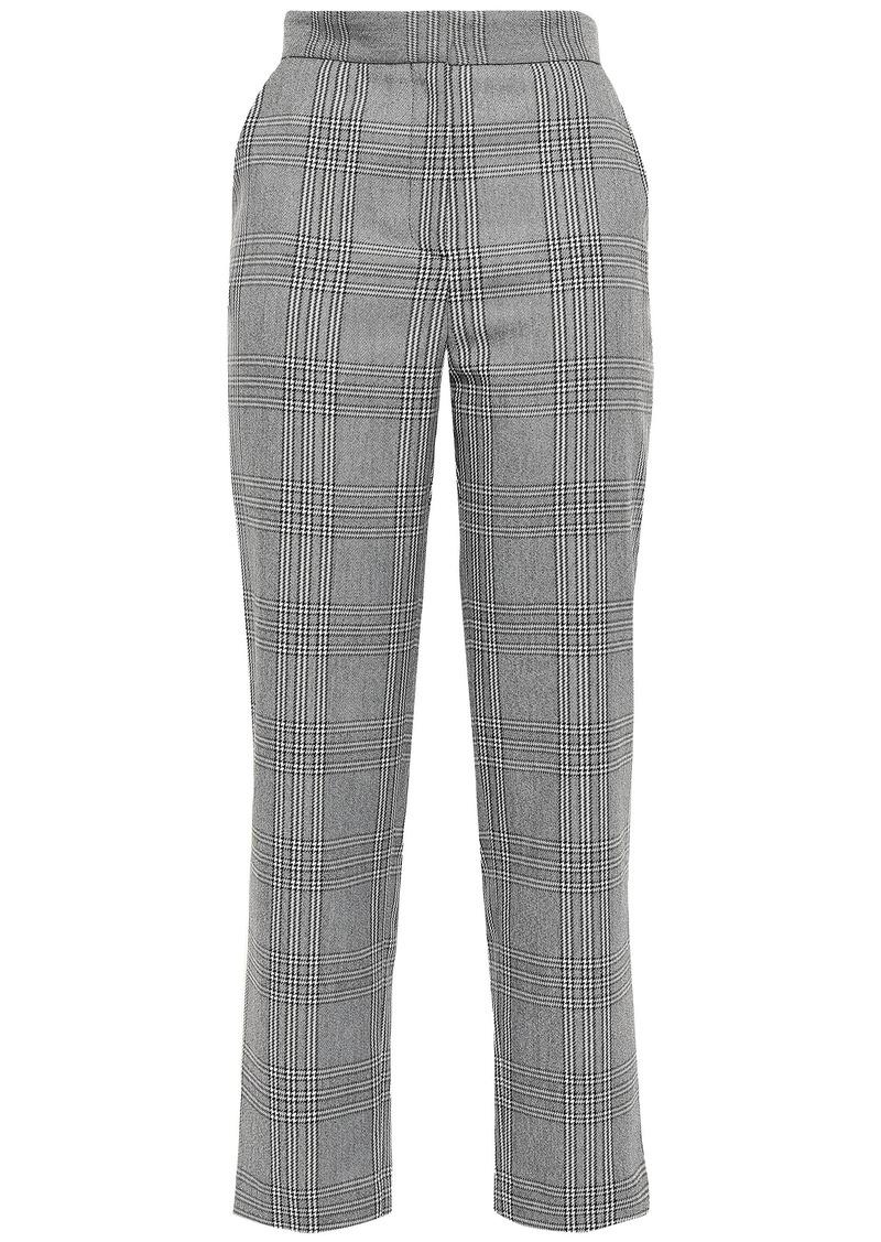 Maje Woman Checked Woven Tapered Pants Gray