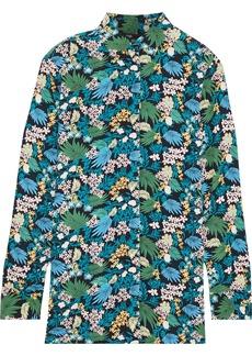 Maje Woman Citrus Floral-print Washed-crepe Shirt Multicolor