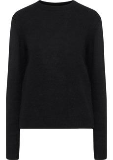 Maje Woman Cutout Knitted Sweater Black