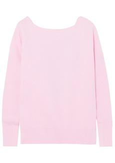 Maje Woman Cutout Ribbed-knit Sweater Baby Pink