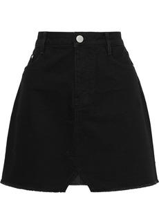 Maje Woman Denim Mini Skirt Black