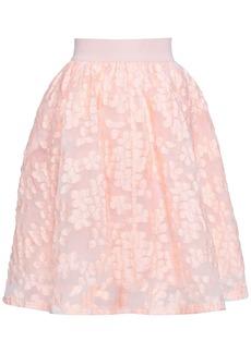 Maje Woman Fil Coupé Flared Skirt Peach