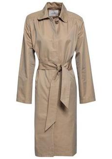 Maje Woman Gamby Cotton-blend Gabardine Trench Coat Sand