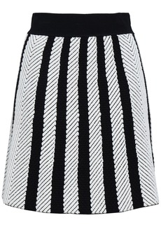 Maje Woman Jasper Striped Jacquard-knit Mini Skirt Ivory