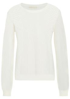Maje Woman Maelys Pointelle-knit Sweater Ivory