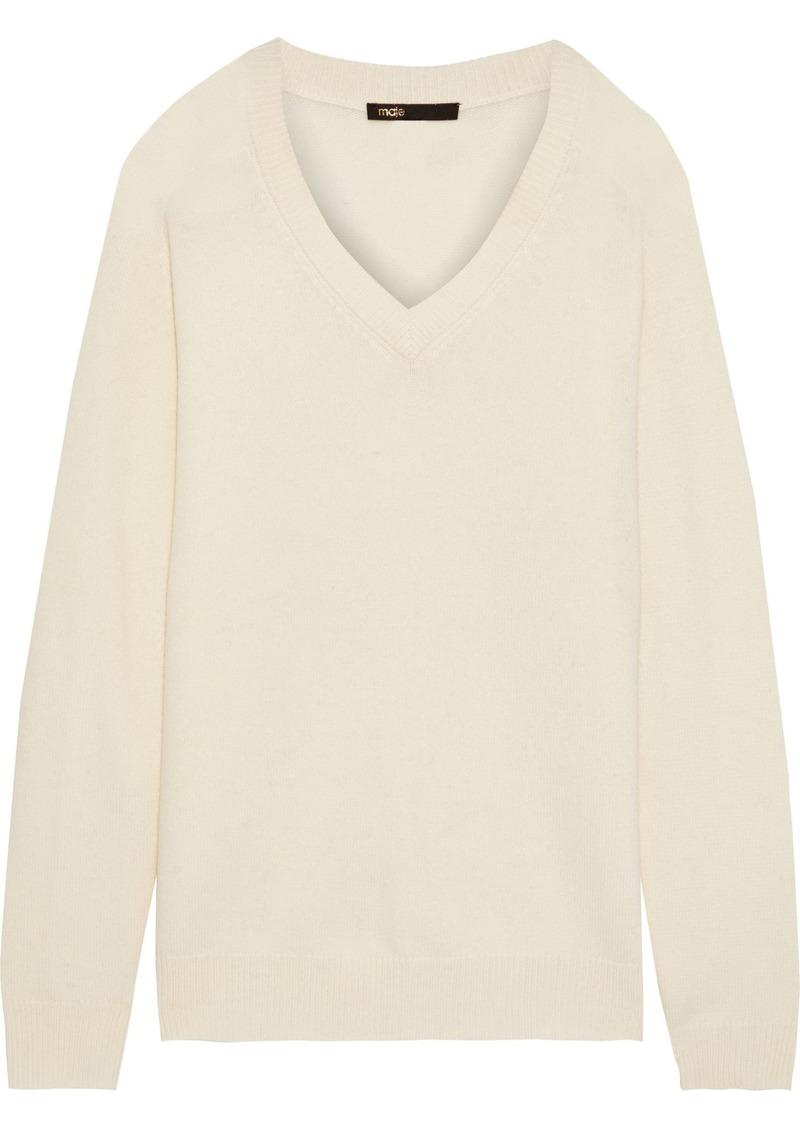 Maje Woman Metro Wool-blend Sweater Ecru