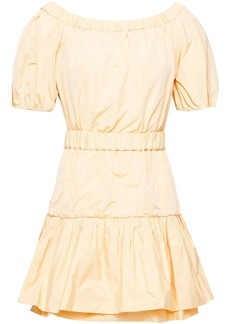 Maje Woman Off-the-shoulder Gathered Taffeta Mini Dress Pastel Orange