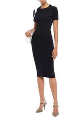 Maje Woman Ribbed-knit Dress Black
