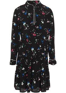 Maje Woman Rilita Tiered Floral-print Crepe Mini Dress Black