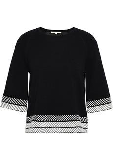 Maje Woman Stretch-knit Top Black