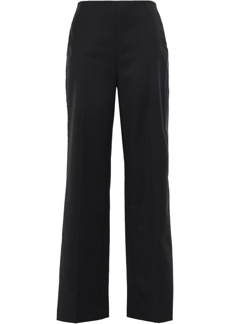 Maje Woman Twill Wide-leg Pants Black