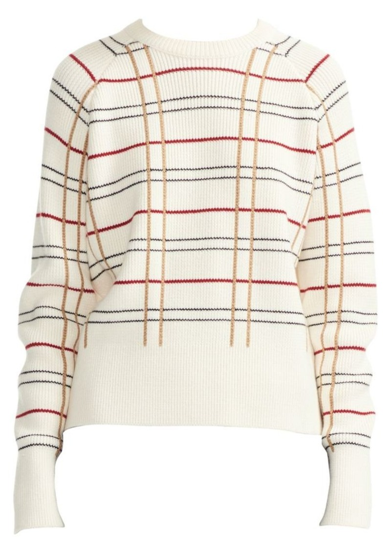 Majeur Striped Wool-Blend Sweater