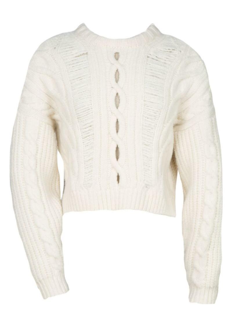 Maje Martina Cableknit Sweater