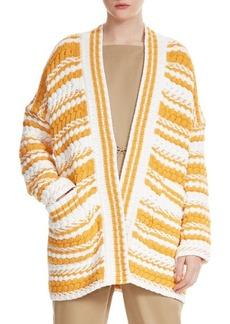 Maje Milio Striped Cardigan