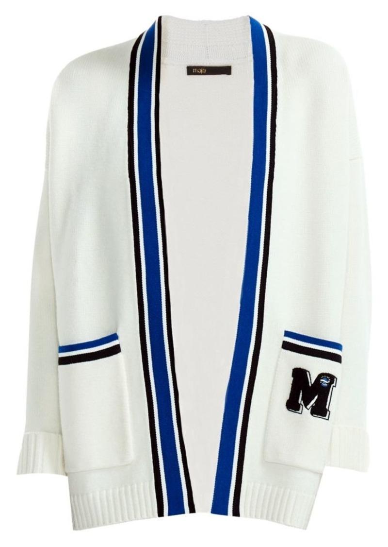 Maje Millenium Varsity Wool-Blend Cardigan