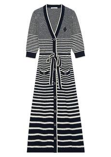 Maje Myplage Long Striped Cardigan