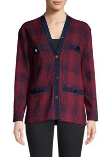 Maje Plaid Button-Front Jacket