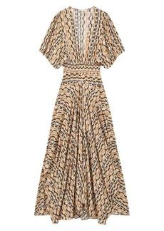 Maje Rachelli Printed Maxi Dress