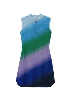 Maje Raina Lurex Knit Mini Dress