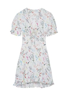 Maje Ramake Printed Mini Dress