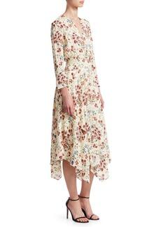 Maje Rayne Handkerchief Midi Dress