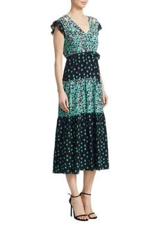 Maje Renoli Printed A-Line Dress
