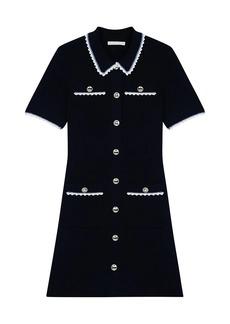 Maje Roliano Contrast Knit Dress