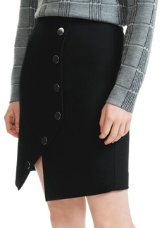 Maje Snap-Button Front Skirt