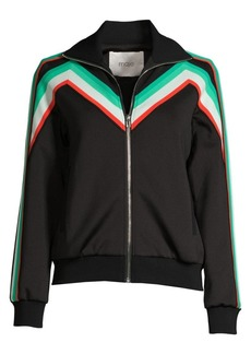Maje Stripe Jogging Jacket