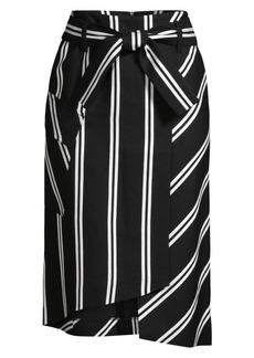Maje Stripe Wrap Skirt