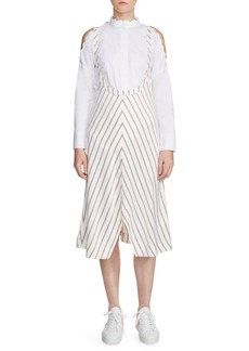 Maje Striped Chevron Dress