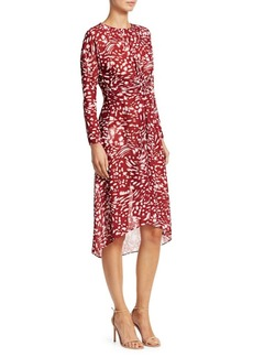 Maje Twist Printed Dress