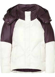 Maje Two-tone Quilted Shell Jacket