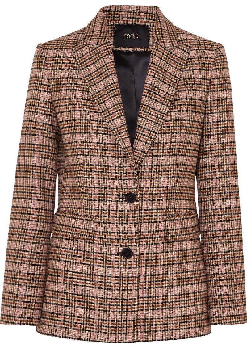 Maje Valilo Checked Tweed Blazer