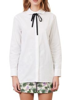 Women's Maje Tie Neck Shirt