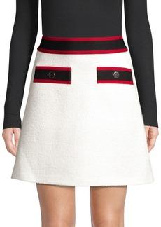 Maje Wool-Blend A-Line Skirt