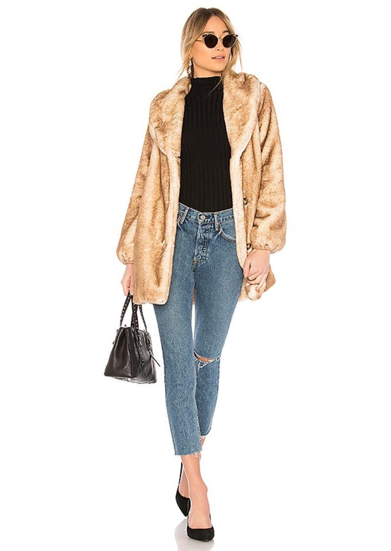 MAJORELLE Brinley Faux Fur Coat