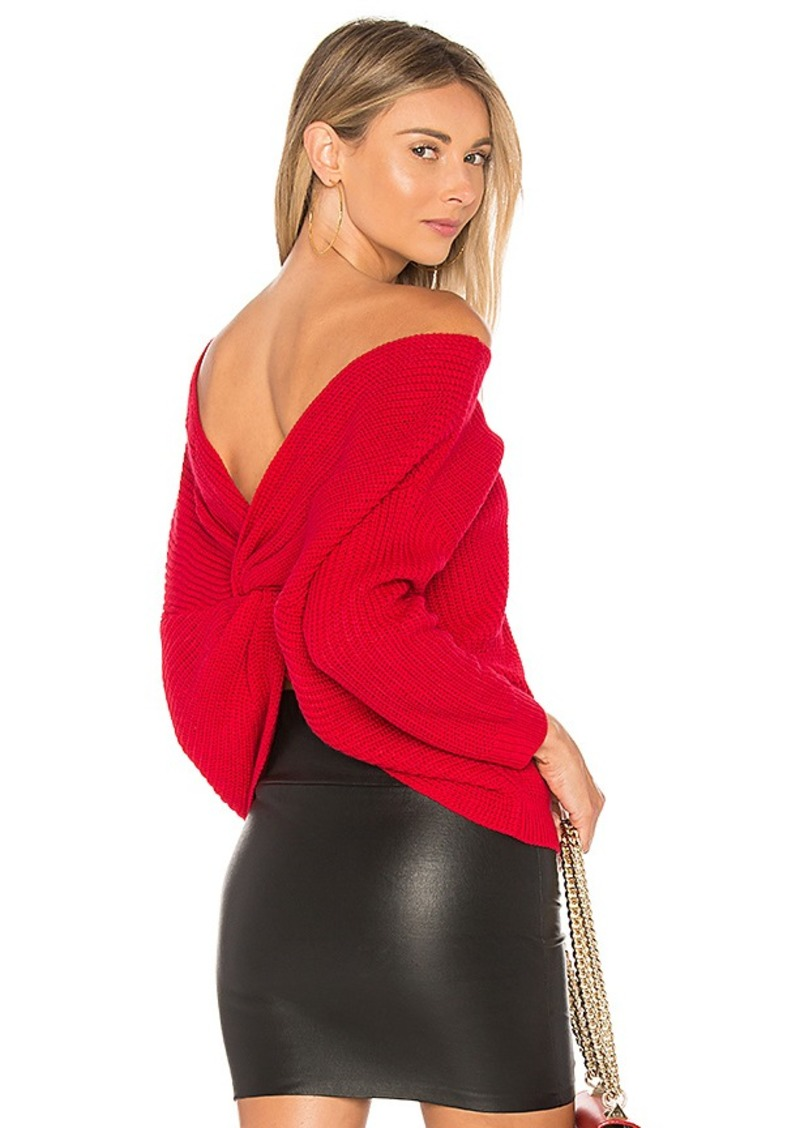 MAJORELLE Cross Back Sweater