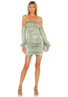 MAJORELLE Farren Ruched Mini Dress