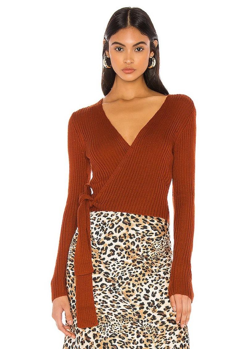 MAJORELLE Lyla Wrap Sweater