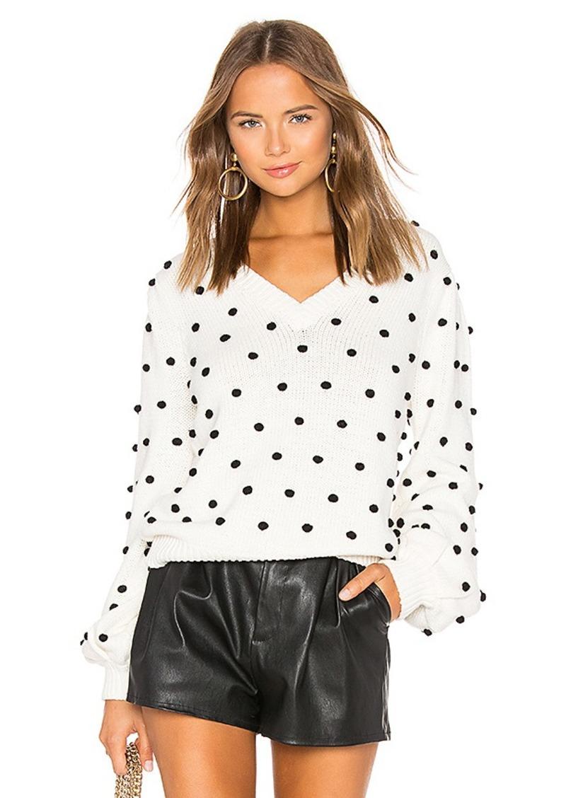 MAJORELLE Polka Dot Sweater