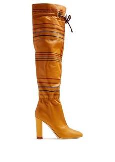 Malone Souliers X Roksanda Kendas striped leather boots