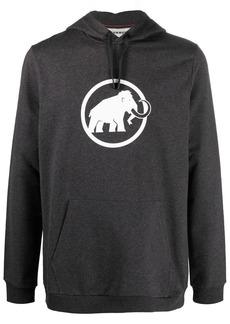 Mammut logo-print stretch-cotton hoodie