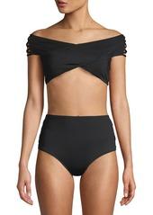 Mandalay Off-The-Shoulder Crisscross Swim Top